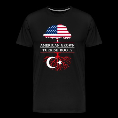 American Grown with Turkish Roots Turkey Design - Men's Premium T-Shirt