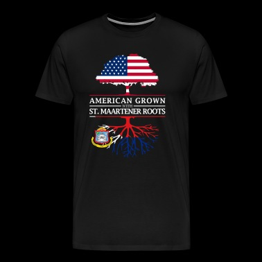 American Grown with St Maartener Roots Sint Maarten Design - Men's Premium T-Shirt