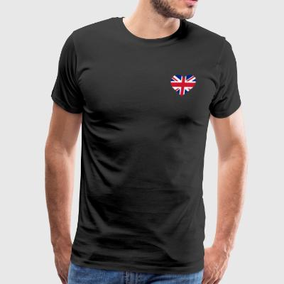UK Flag Shirt Heart - Brittish Shirt - Men's Premium T-Shirt