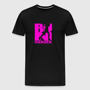 RUN Harder gym workout - Men's Premium T-Shirt