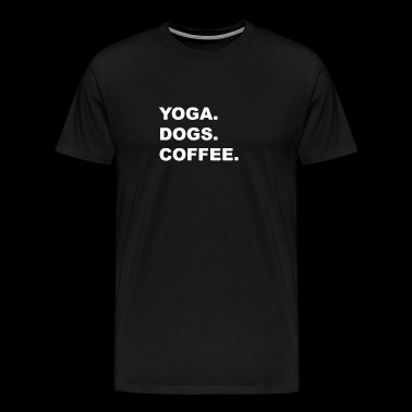 Yoga Dogs Coffee - Men's Premium T-Shirt