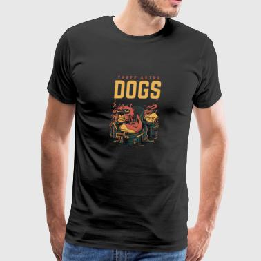 Three Astro Dogs - Men's Premium T-Shirt