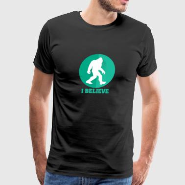 I Belive Bigfoot Sasquatch - Men's Premium T-Shirt