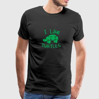 New Design I Like Turtles Best Seller - Men's Premium T-Shirt