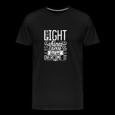 New Design The Lights shines in the darkness - Men's Premium T-Shirt