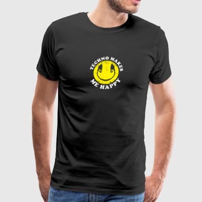 Techno makes me happy - Men's Premium T-Shirt