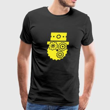 Steampunk Cog Face - Men's Premium T-Shirt