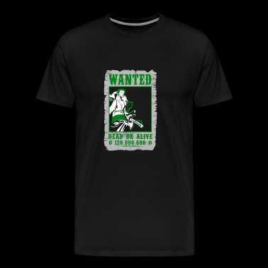 Wanted Roronoa Zoro - One piece fan - Men's Premium T-Shirt