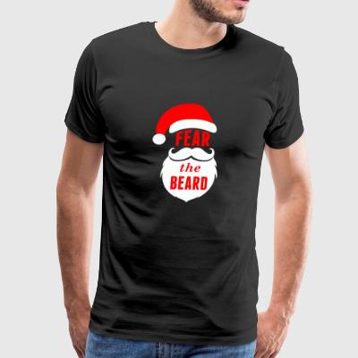 Fear The Beard Santa Christmas - Men's Premium T-Shirt