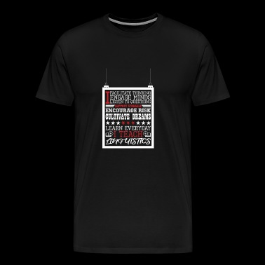 I Engage Minds Learn Everyday I Teach Linguistics - Men's Premium T-Shirt