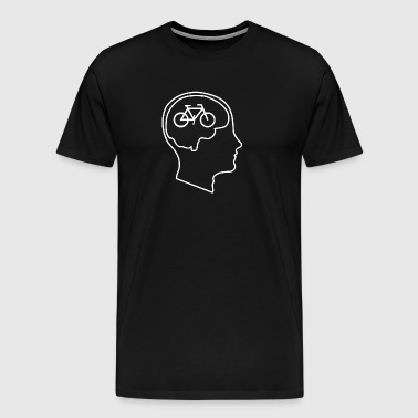 Bikes on the Brain - A shirt for bicycle lovers! - Men's Premium T-Shirt