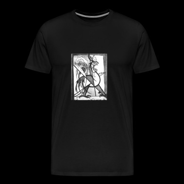 cock fight skecth - Men's Premium T-Shirt
