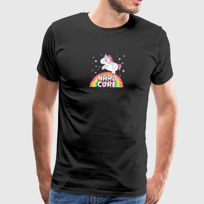 Cute Ironic Hardcore Music Festival Party Unicorn - Men's Premium T-Shirt