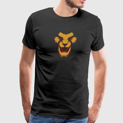 Lion s face - Men's Premium T-Shirt