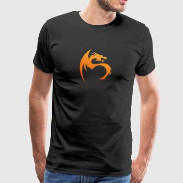 Logo Energi Fire business Dragon Symbol vector art - Men's Premium T-Shirt