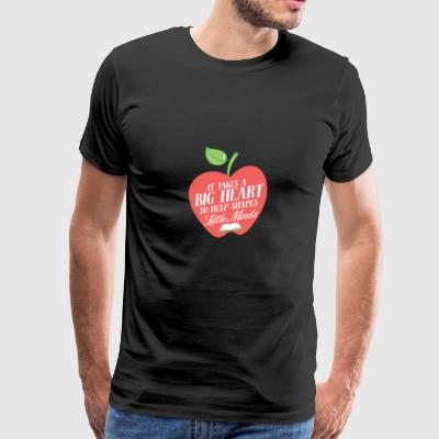 It takes a big heart to help little minds - Men's Premium T-Shirt