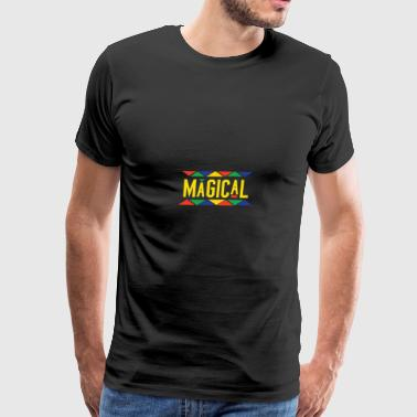 Magical Tribal Design (Yellow Letters) - Men's Premium T-Shirt