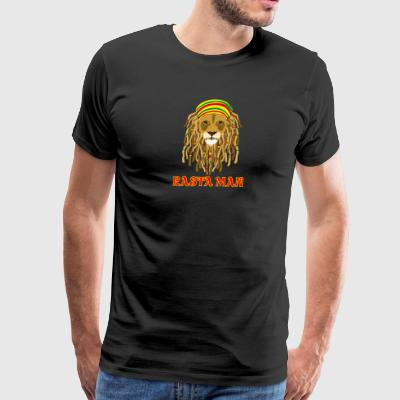 rasta_man_lion - Men's Premium T-Shirt