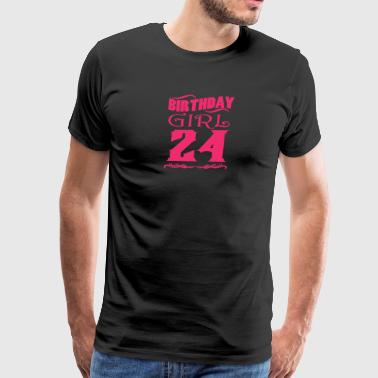 Birthday Girl 24 years old - Men's Premium T-Shirt