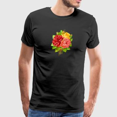 Bouquet of Flowers - Men's Premium T-Shirt
