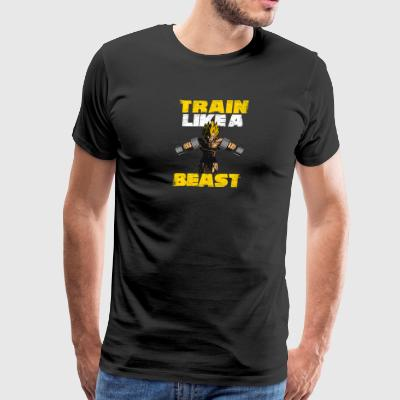 TRAIN LIKE A BEAST - Men's Premium T-Shirt
