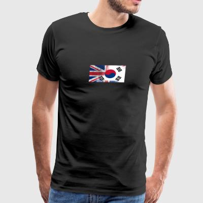 British Korean Half South Korea Half UK Flag - Men's Premium T-Shirt
