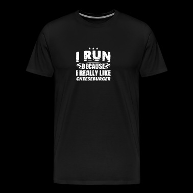 Funny Running Runner Shirt Like Cheeseburgers - Men's Premium T-Shirt