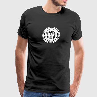circle_indian_portrait_white - Men's Premium T-Shirt