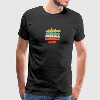 Retro Miami FL Skyline Pop Art - Men's Premium T-Shirt