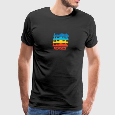 Retro Nashville TN Skyline Pop Art - Men's Premium T-Shirt