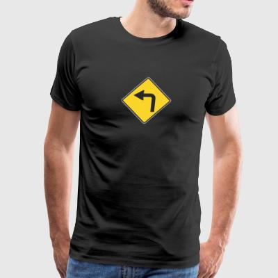 Road_Sign_Left_turn - Men's Premium T-Shirt