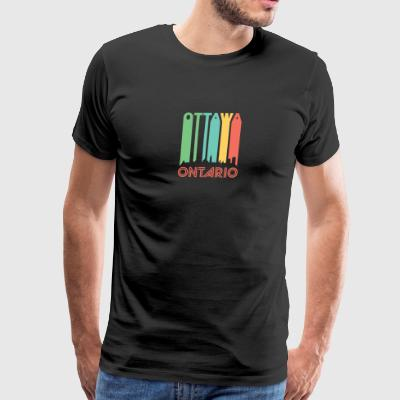 Retro Ottawa Skyline - Men's Premium T-Shirt