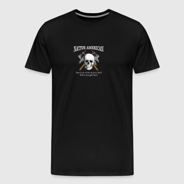 Native American (skull) - Men's Premium T-Shirt