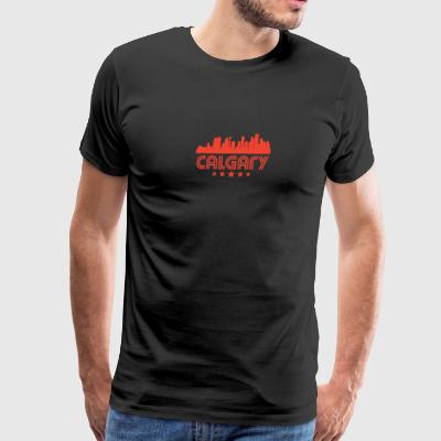 Retro Calgary Skyline - Men's Premium T-Shirt