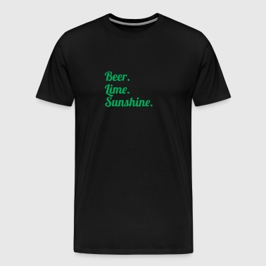 Beer Lime Sunshine 5 - Men's Premium T-Shirt