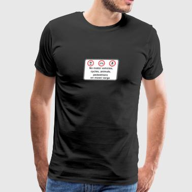 Road_sign_no_motor_venicles_cycles_animals - Men's Premium T-Shirt