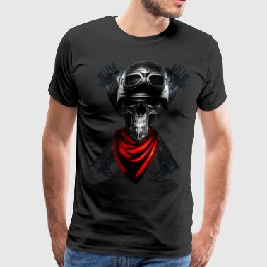 bikers skull - Men's Premium T-Shirt
