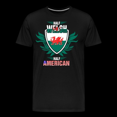 Half Welsh Half American - Men's Premium T-Shirt