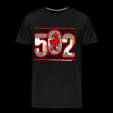 Louisville Cardinals (rugged style) - Men's Premium T-Shirt