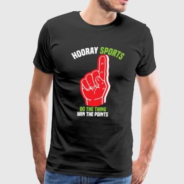 Funny Hooray Sports American Football Basketball - Men's Premium T-Shirt