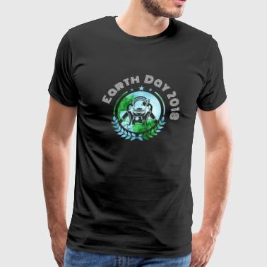 Space Earth Day 2018 - Men's Premium T-Shirt