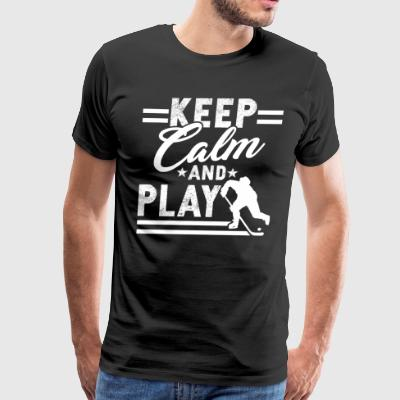 Play Hockey Tee Shirt - Men's Premium T-Shirt