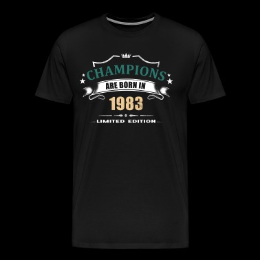 Champions Are Born In 1983 - Turquoise 1 - Men's Premium T-Shirt