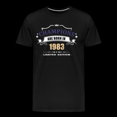 Champions Are Born In 1983 - Purple 2 - Men's Premium T-Shirt