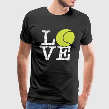 Tennis Love - Sports Gift - Men's Premium T-Shirt