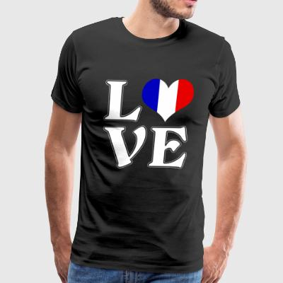 I love France - traveling - Men's Premium T-Shirt