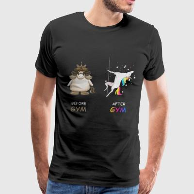 Unicorn before and after gym - Men's Premium T-Shirt