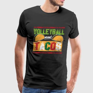 Volleyball and Tacos - Men's Premium T-Shirt