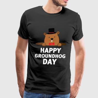 Happy Groundhog Day - Men's Premium T-Shirt