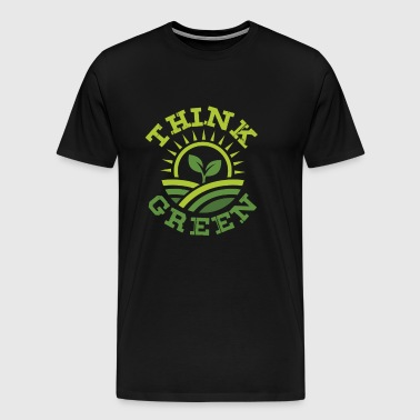 Think Green gift save love earth fight climate - Men's Premium T-Shirt